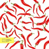 picture of cayenne pepper  - Chili Peppers Seamless Pattern Background - JPG