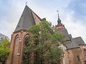 picture of leipzig  - Nikolaikirch St Nicholas Church in Leipzig Germany where Johann Sebastian Bach performed the world premiere of St John Passion - JPG