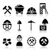 foto of power-shovel  - Industry vector icons set  - JPG