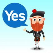 image of kilt  - Scottish yes sign traditional character in kilt - JPG