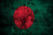 pic of bangladesh  - grunge flag of Bangladesh with capital in Dhaka - JPG