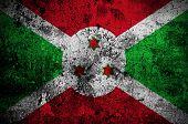 pic of burundi  - grunge flag of Burundi with capital in Bujumbura - JPG