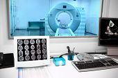 stock photo of observed  - in CT laboratory - JPG