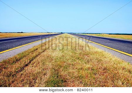 Summer Day Belorussian Road View