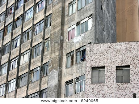 Rundown Facade In Sao Paulo