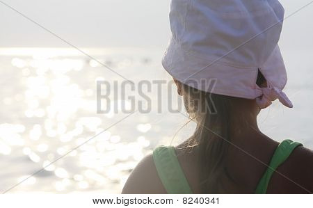 Girl Looks At The Sea