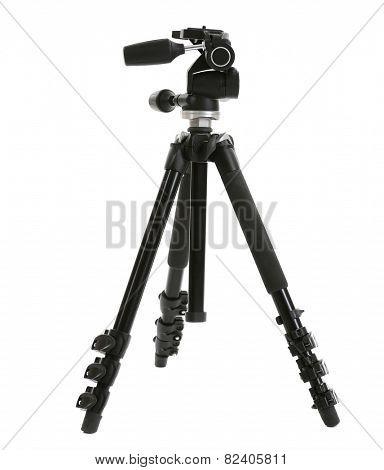 Camera tripod isolated on white