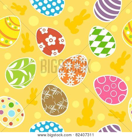 Easter Egg Seamless Background