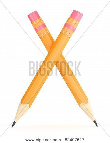 Orange Pencil With Erase