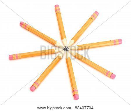 Orange Pencils With Erase