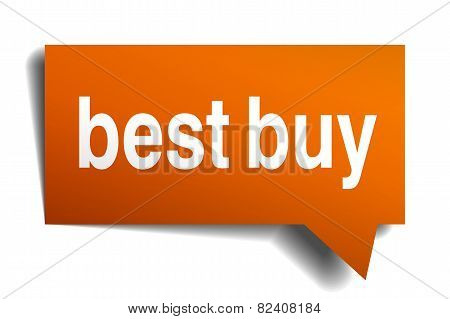 Best Buy Orange Speech Bubble Isolated On White