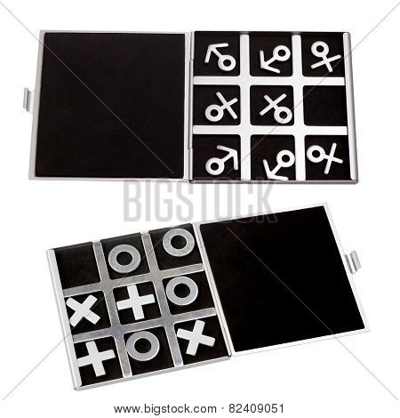 set tic-tac-toe symbol of man and woman of masculine and feminin
