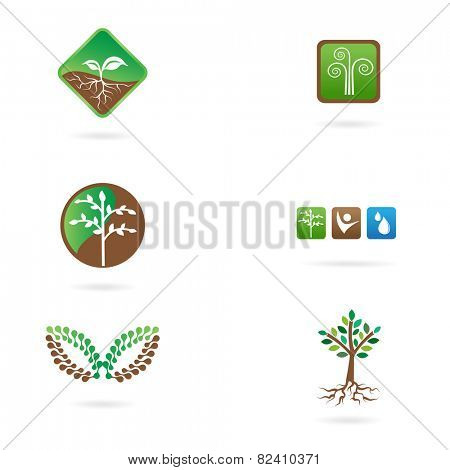Vector set of agricultural logos.