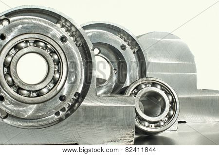 Mounted Roller Bearing Unit Blank. Mechanical Engineering.