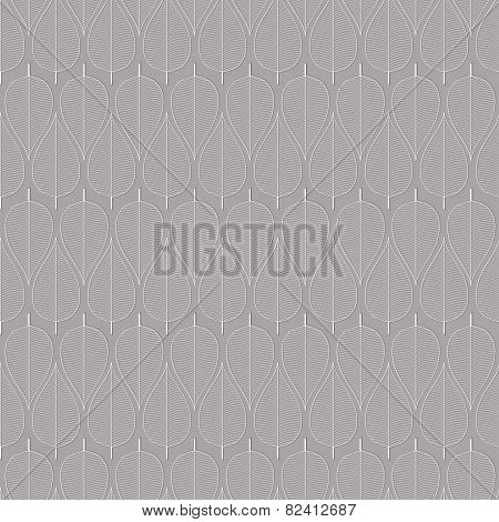 Seamless Simple Leaf Pattern Vector