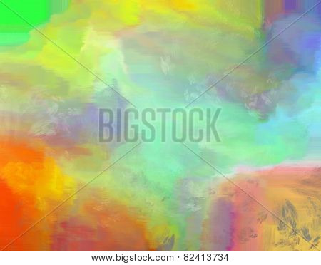 Abstract Rainbow Colored Painted Background