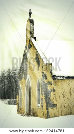 Winter Abandoned Church