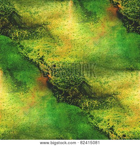 abstract watercolor, and green art seamless texture hand painted