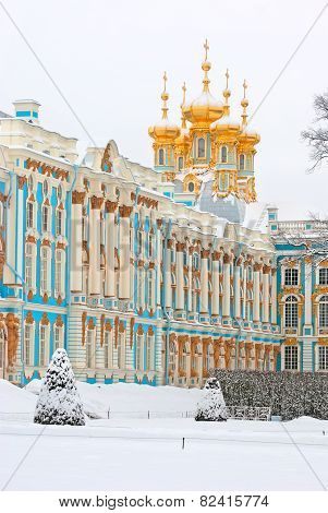 Tsarskoye Selo (Pushkin), Saint-Petersburg, Russia. The Catherine Palace