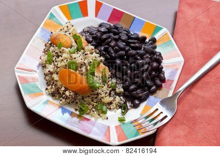 Quinoa Carrots And Black Beans