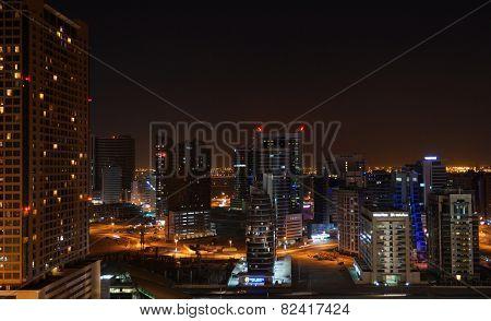 DUBAI, UAE - 2 February 2014: City at night.