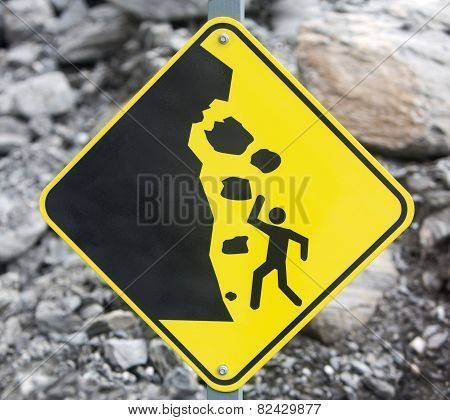 Rock Fall Danger Sign