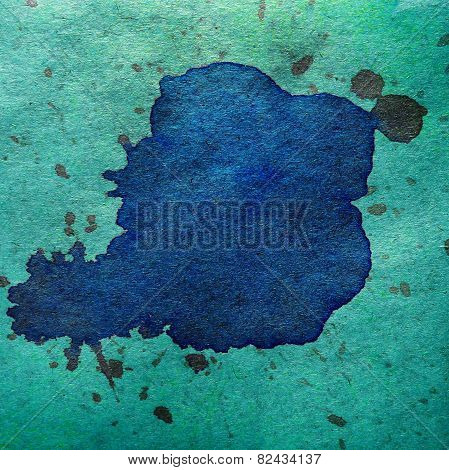 watercolor abstract blue green background paint color blob desig