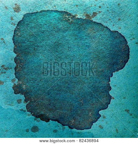 watercolor blue abstract green background paint color blob desig