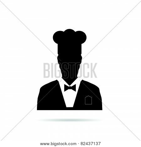 Man Chief Icon Black Vector Illustration