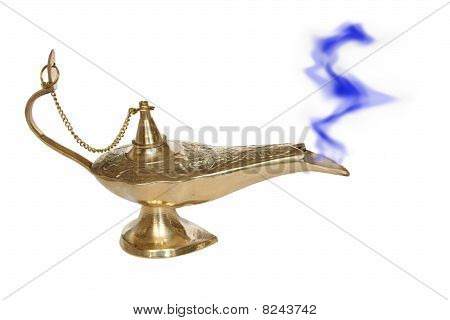 Bronze Or Golden Genie Lamp