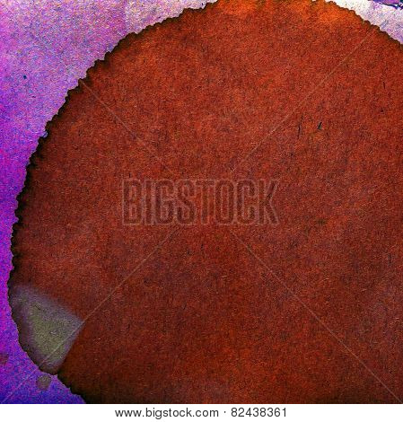 watercolor purple, brown abstract background paint color blob de