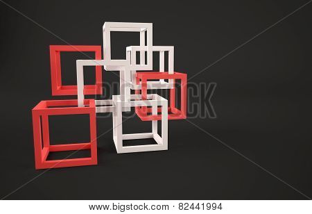 Cubes abstract composition
