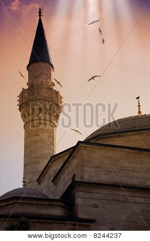 Minaret Of Blue Mosque