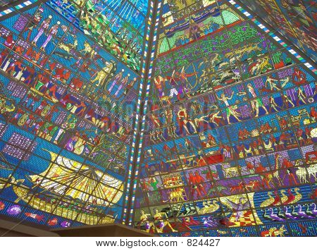 Stained Glass Pyramid Roof
