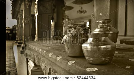 Thaipusam Pots - Monochromatic