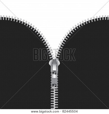 Vector Zipper Illustration Isolated on White