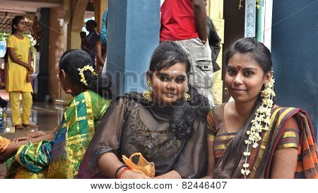 Thaipusam girls