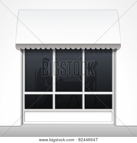 Vector Exterior of Restaurant Cafe Fron