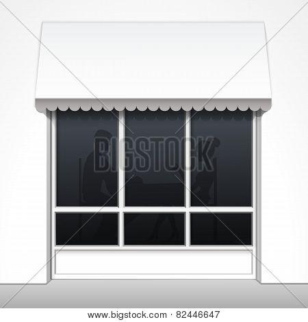 Vector Exterior of Restaurant Cafe Fron