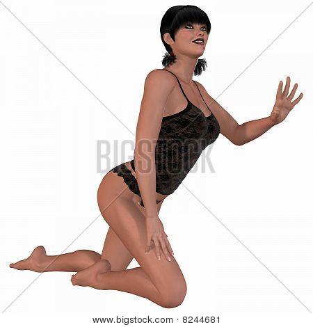 Fashion model in sexy underwear