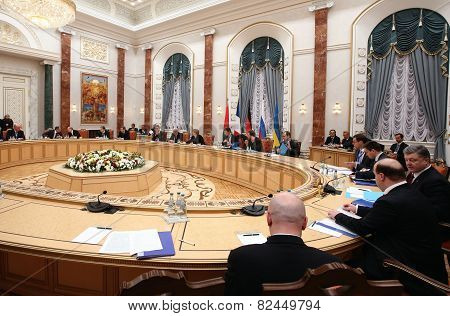 Talks Of The Leaders Of States In The Norman Format In Minsk