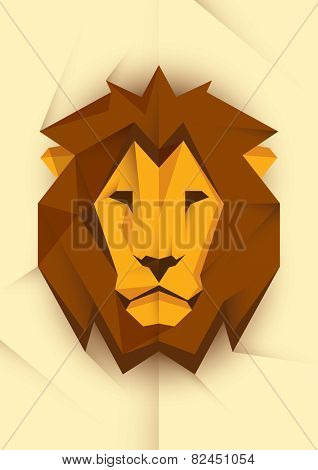 Abstract lion's head. Vector illustration.