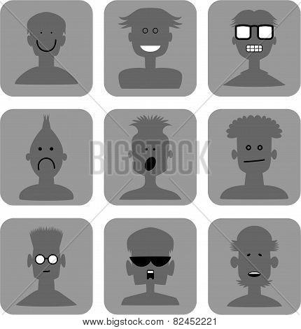Emoticon Web Icon Set