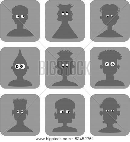 Googly Eyes Web Icon Set