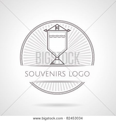 Abstract vector illustration of souvenir pennon