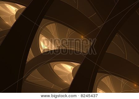 Rings Abstract Background