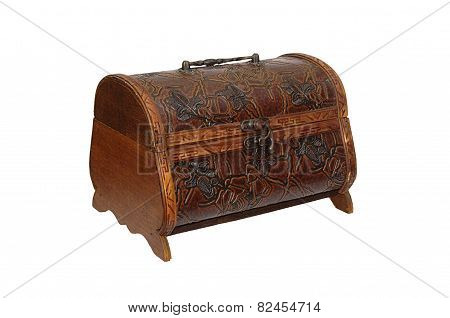 Handmade brown casket