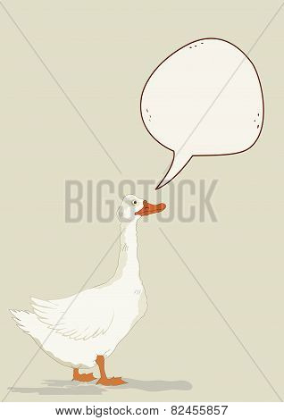 Cute Goose With Speech Bubble