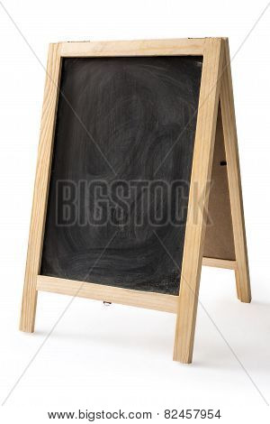 Chalk Rubbed Out On Blackboard Isolated
