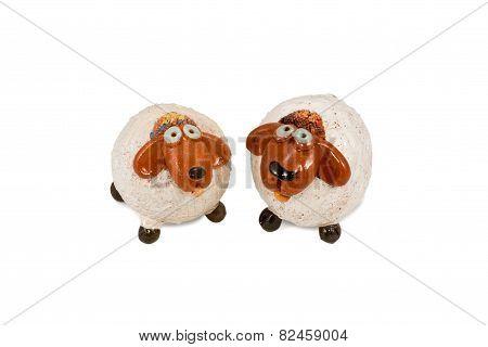 Two Sheep Figurine